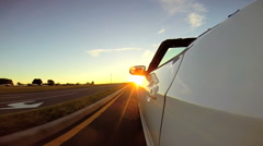 Cabriolet Transport Rental Car Luxury Performance Reward American Dream Travel - stock footage