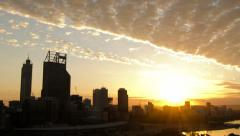 Time Lapse of the Sun Rising Over Perth City 2014 Stock Footage