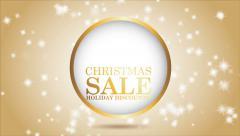 Christmas sale animation Stock Footage