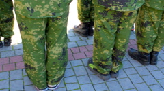 Rebels in military camouflage Stock Footage