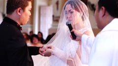 Wedding ring selective focus - stock footage