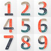 Vector numbers infographics, font diagrams. Stock Illustration