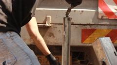 Unloading diesel Generator - stock footage