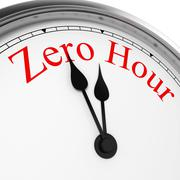 zero hour on a clock - stock illustration