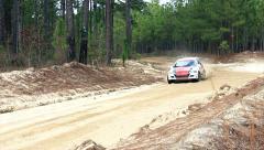 Honda Rally Car High Speed Turn Stock Footage