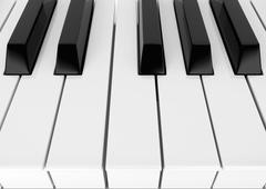 piano keys - stock illustration