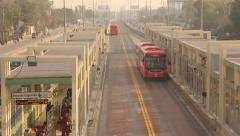 Stock Video Footage of Lahore Metro Bus Terminal