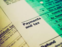 Retro look Tax forms Stock Photos