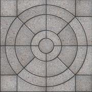 Gray Pavement Slabs in the Form of Circles. - stock illustration