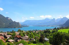 Wolfgangsee lake in Alps, Austria - stock photo