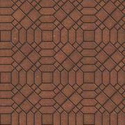 Brown Pavement with a Complicated Pattern. - stock illustration