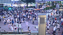 Evening Tokyo Shibuya crossing TL 4K - stock footage