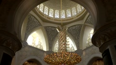 The United Arab Emirates city of Abu Dhabi 021 dome of  Sheikh Zayed Mosque - stock footage
