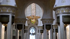 The United Arab Emirates city of Abu Dhabi 024 archways in Sheikh Zayed Mosque - stock footage