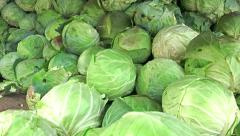 Cabbage vegetables in grocery wide uhd sony 4k shoot Stock Footage