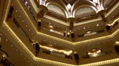 The United Arab Emirates city of Abu Dhabi 057 atrium in Emirates Palace hotel - stock footage