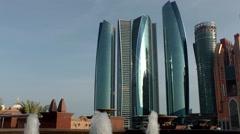 The United Arab Emirates city of Abu Dhabi 058 Jumeirah at Etihad Towers Stock Footage