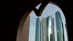 Stock Video Footage of The United Arab Emirates city of Abu Dhabi 060 Jumeirah at Etihad Towers