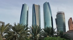 Stock Video Footage of The United Arab Emirates city of Abu Dhabi 071 Jumeirah at Etihad Towers