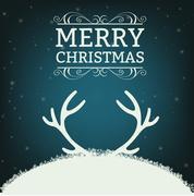 Merry christmas illustration Stock Illustration