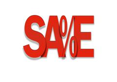 sale red price discount in percent background - stock illustration