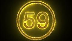 New Leds CountDown 60 Seconds Stock Footage