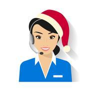 Female call centre operator Stock Illustration