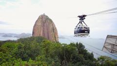The Sugarloaf Mountain in Rio de Janeiro, Brazil Stock Footage
