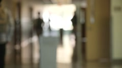 High School Hall Blurry Slow Motion Stock Footage