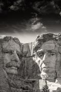 Mount Rushmore National Memorial with dramatic sky - USA Stock Photos