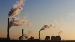 Industrial chimney smoke Stock Footage
