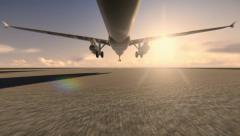 Plane taking off at the airport Stock Footage