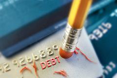 Erase a debt Stock Photos