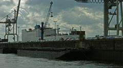 Hamburg Stueckgut Hafen - stock footage