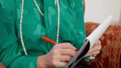Psychotherapist hands nervous - stock footage