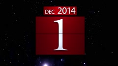 Countdown calendar for the new year 2015 with fireworks Stock Footage