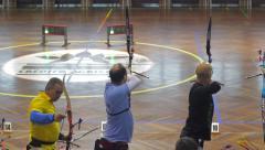 Indoor Archery Stock Footage