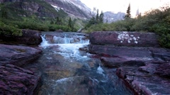 Helen Lake in Glacier National Park,Montana Stock Footage