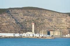 Petrochemical refinery near sea Stock Photos