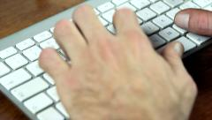 Typing on keyboard Stock Footage