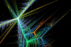 magic fractal on black - stock illustration