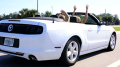 Cabriolet Convertible Travel Vehicle Car Power Finance Pride Ownership - stock footage