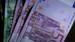 Money euro 500 3 Stock Footage