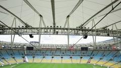 The famous Maracana Stadium in Rio de Janeiro, Brazil. Stock Footage