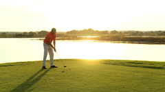Golfer Caucasian Male Golf Sport Corporate Competition Course Profession Travel - stock footage