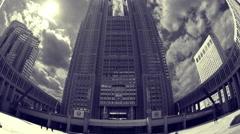 4k tokyo japan city government skyscrapers skyline metropolitan office Stock Footage