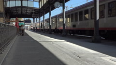Livorno Italy central train station railroad 4K 016 Stock Footage