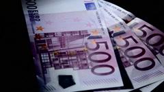 Money euro 500 3 - stock footage