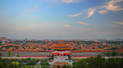Beijing, China over the Forbidden City Stock Footage