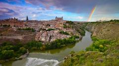 Toledo, Spain Townscape Stock Footage
